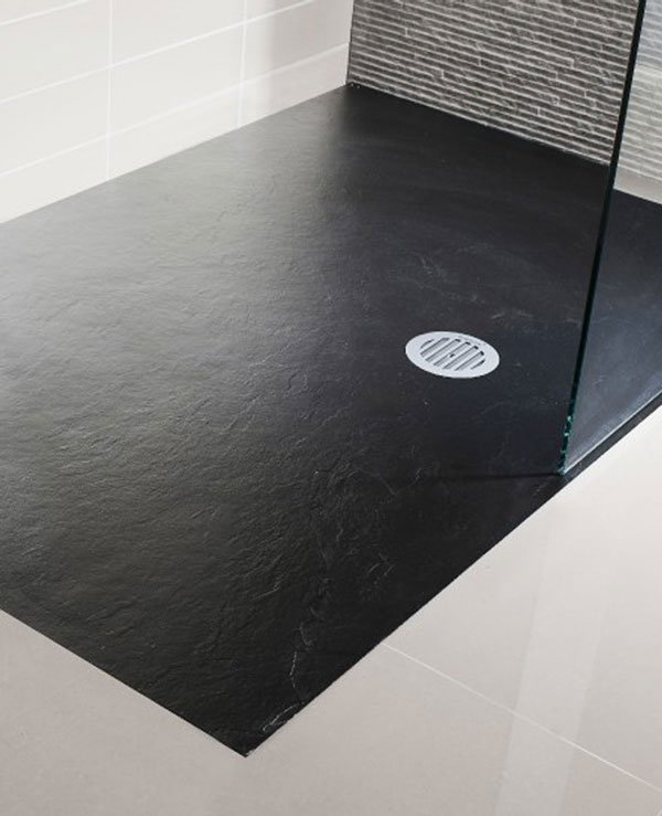 Simpsons Black Textured Slate Effect Tray