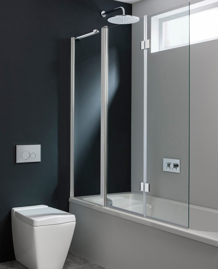 Crosswater Design Triple Bathscreen