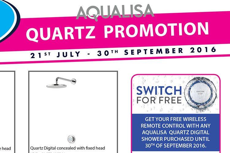Reduced prices on Aqualisa Quartz Digital & FREE WIRELESS REMOTE