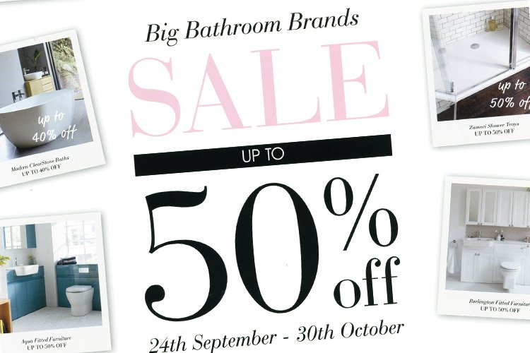 Big Bathroom Brands Sale – Up to 50% off