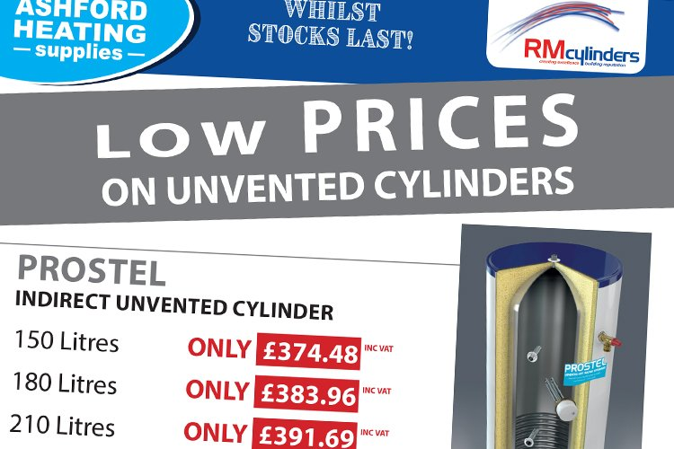 Low Prices on Unvented Cylinders