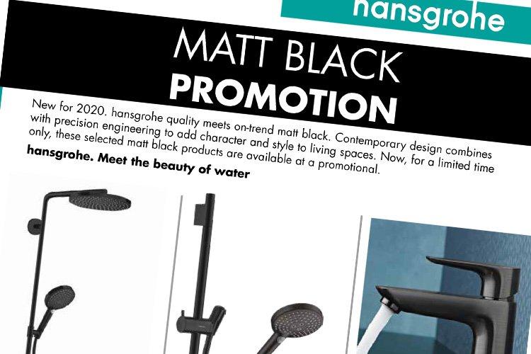hansgrohe MATT BLACK Promotion