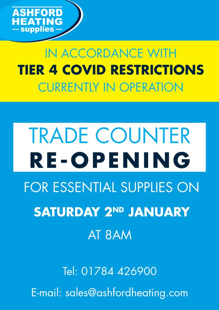 Trade Counter re-opening