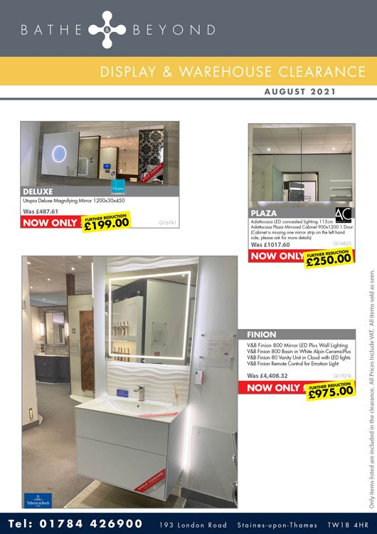 Display clearance August 21